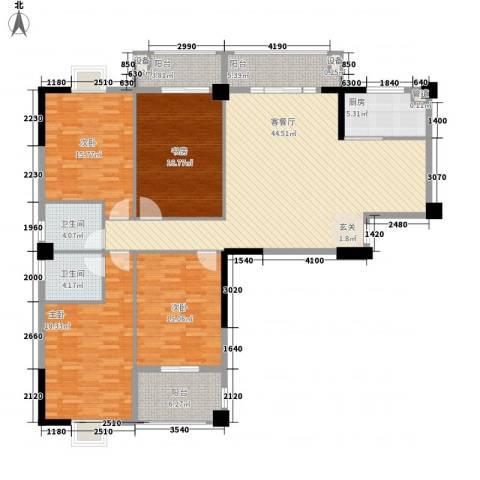 万豪臻品4室1厅2卫1厨156.00㎡户型图