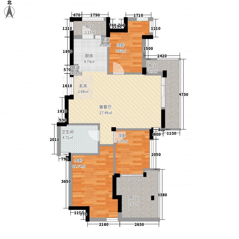 东鼎世纪107.40㎡东鼎世纪户型图户型奇数D23室2厅1卫1厨户型3室2厅1卫1厨