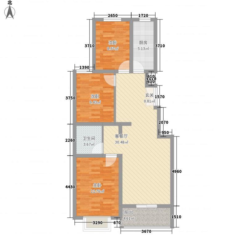 东郡107.93㎡东郡户型图D户型(已售完)3室2厅1卫1厨户型3室2厅1卫1厨