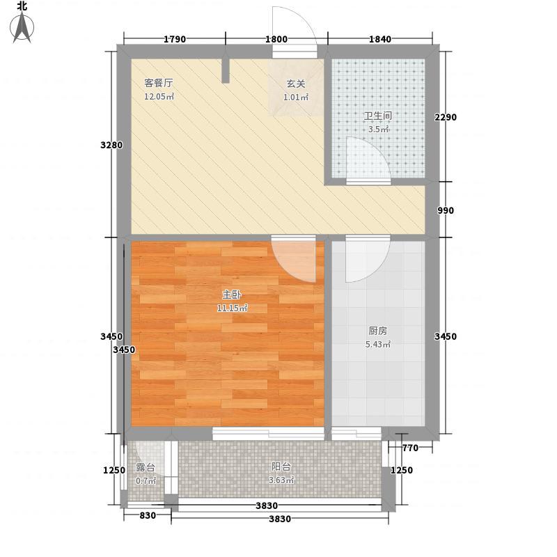 滑翔七小区65.00㎡滑翔七小区2室户型2室