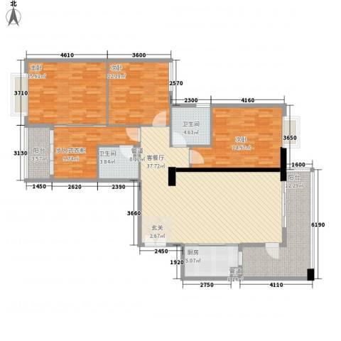 盛和新都会.3室1厅2卫1厨175.00㎡户型图