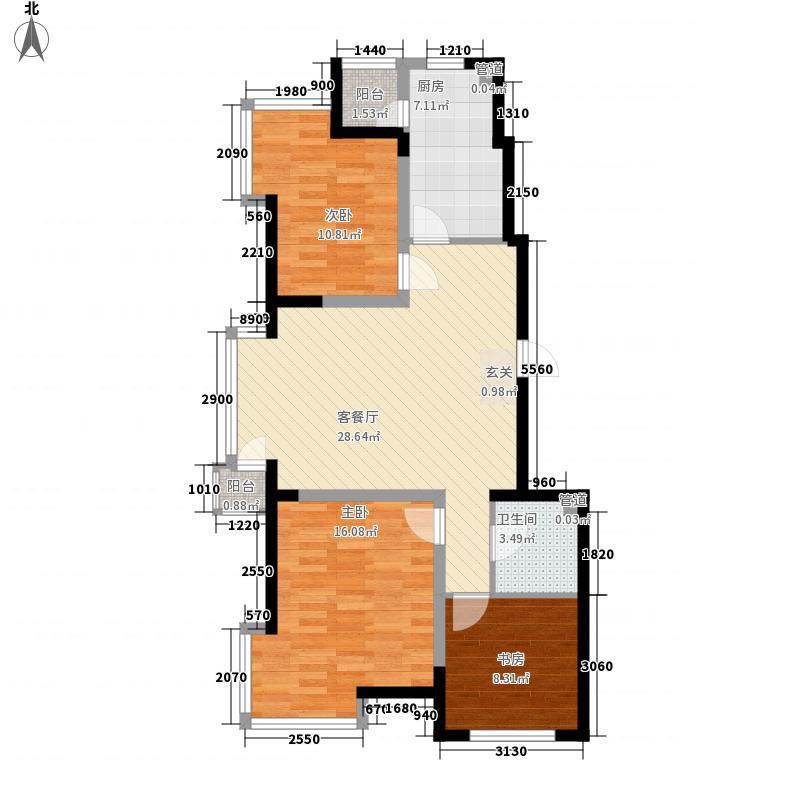 亚美利加103.45㎡亚美利加户型图那缇风光3室2厅1卫户型3室2厅1卫
