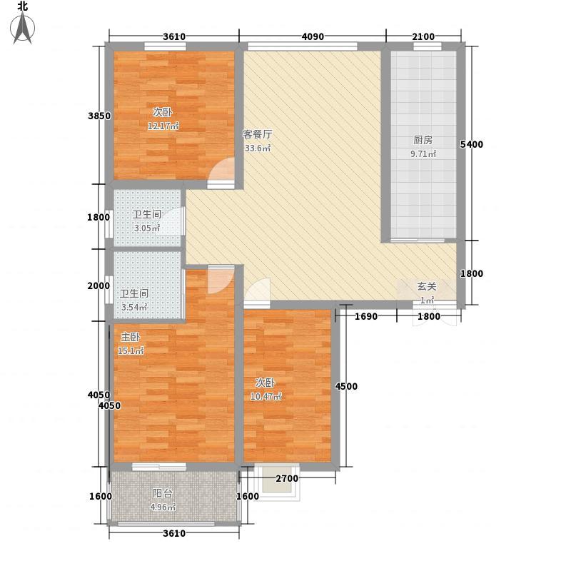 滨河城・左岸127.01㎡滨河城・左岸户型图a1户型3室2厅1卫1厨户型3室2厅1卫1厨