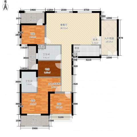 健逸天地4室1厅2卫1厨171.00㎡户型图