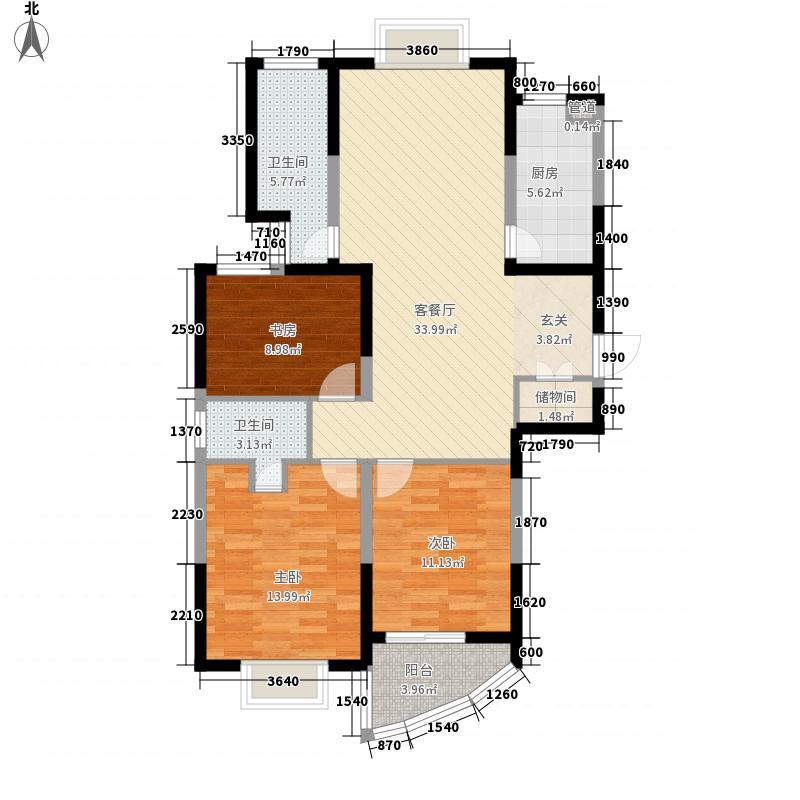 新港国际126.00㎡新港国际户型图E3室2厅2卫1厨户型3室2厅2卫1厨