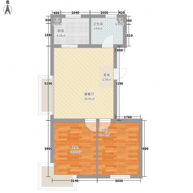 亚美利加78.20㎡亚美利加户型图A户型2室2厅1卫户型2室2厅1卫