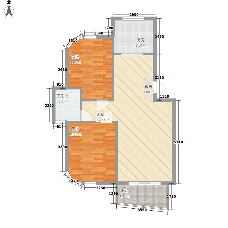 水岸花都87.08㎡水岸花都户型图87.08平户型2室2厅1卫1厨户型2室2厅1卫1厨
