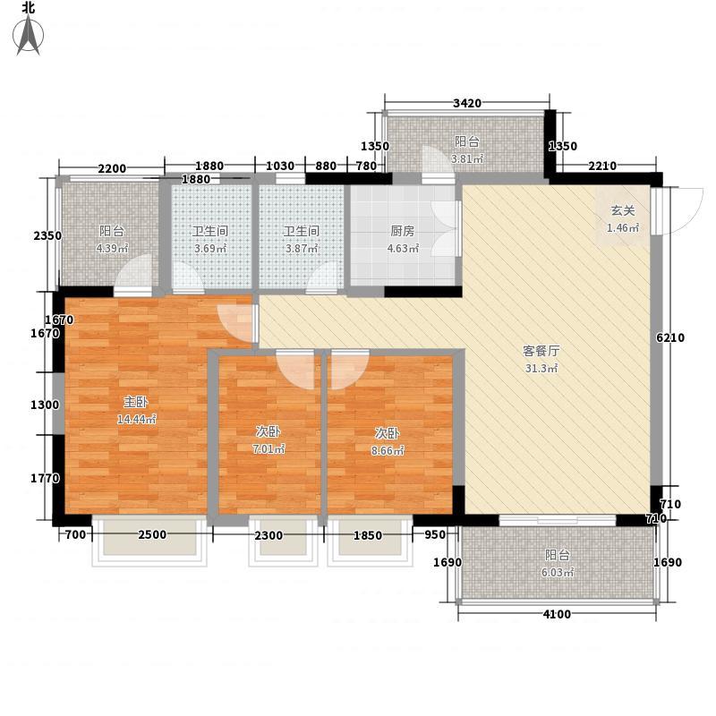 金田花园花域19栋标准层C2户型
