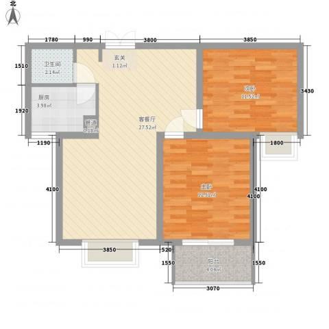 西市佳园2室1厅1卫1厨89.00㎡户型图