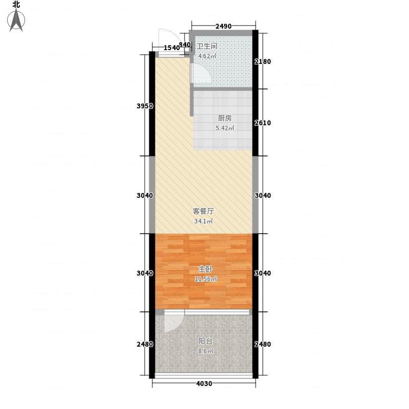 远乡维也纳62.00㎡远乡维也纳户型图2号楼B户型1室1厅1卫1厨户型1室1厅1卫1厨