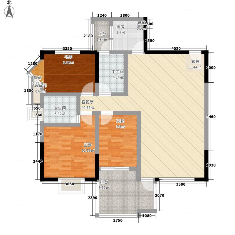 盛世草堂113.00㎡盛世草堂户型图A型偶数层3室2厅2卫1厨户型3室2厅2卫1厨