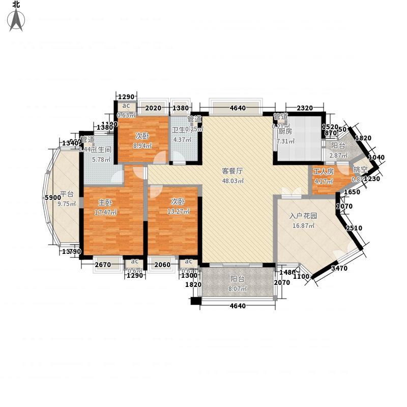 中海金沙熙岸154.00㎡清澜水境2座偶数层04户型3室2厅2卫