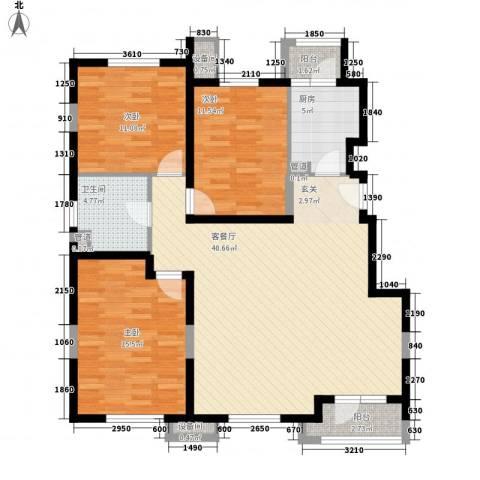 纯白领域3室1厅1卫1厨94.41㎡户型图