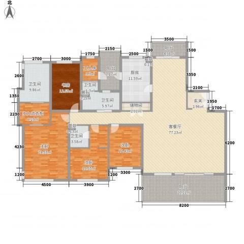 仁恒河滨城三期4室1厅4卫1厨304.00㎡户型图