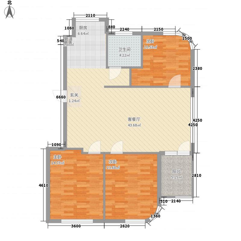 水岸花都114.35㎡水岸花都户型图114.35平户型3室2厅1卫1厨户型3室2厅1卫1厨
