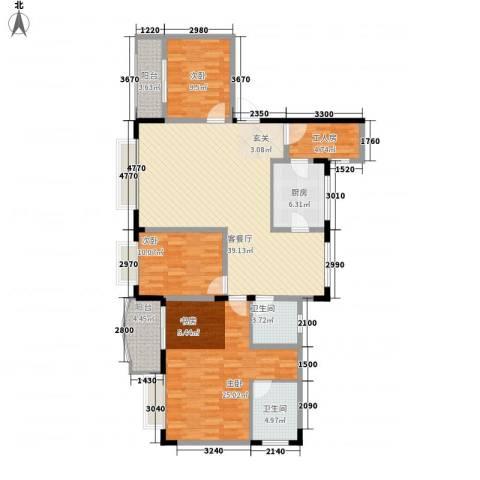 智邦家园3室1厅2卫1厨156.00㎡户型图