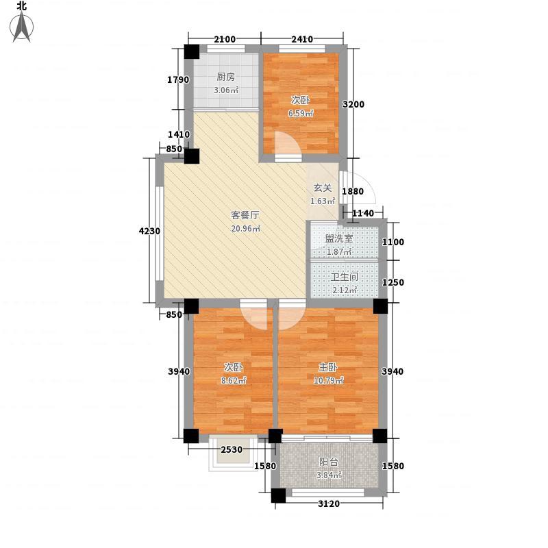 远遥新村83.68㎡户型3室2厅1卫1厨