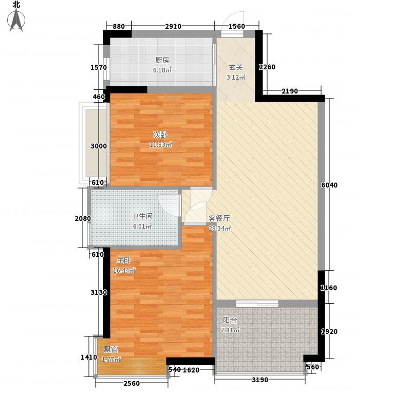 鸿安广场78.00㎡鸿安广场2室户型2室
