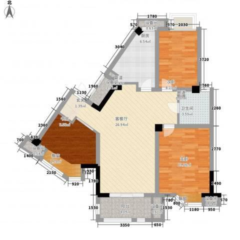 中北英郡3室1厅1卫1厨108.00㎡户型图