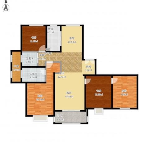 宝华海尚郡领4室1厅2卫1厨194.00㎡户型图