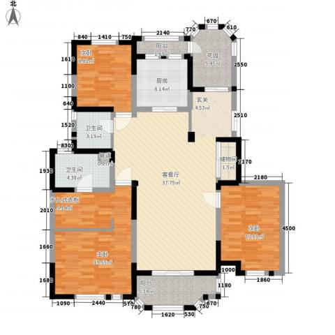 紫金英郡3室1厅2卫1厨139.00㎡户型图