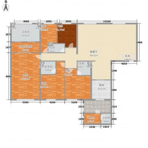 太原茂业天地5室1厅5卫1厨338.00㎡户型图