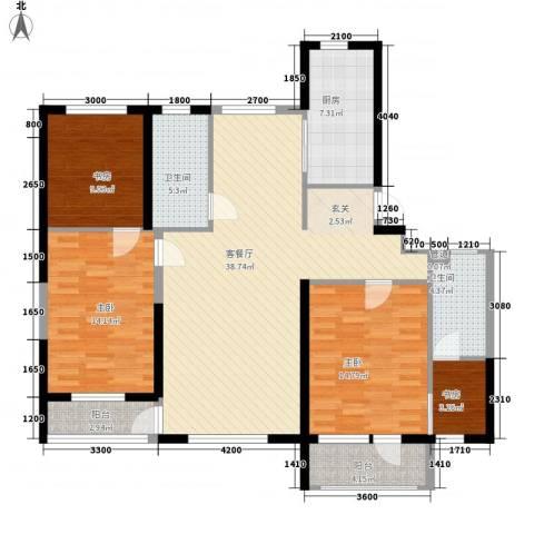 幸福E家五期4室1厅2卫1厨147.00㎡户型图