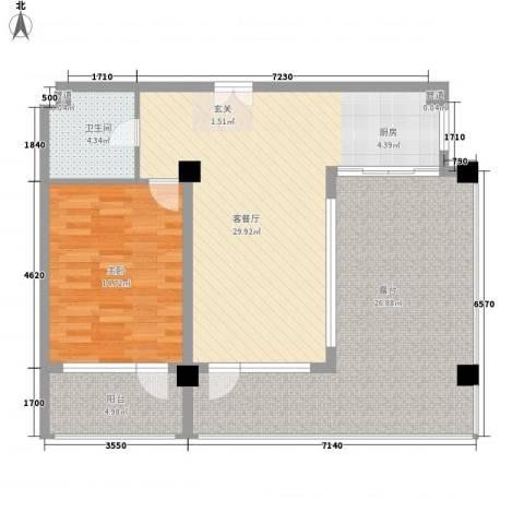 金上汤温泉1室1厅1卫0厨114.00㎡户型图
