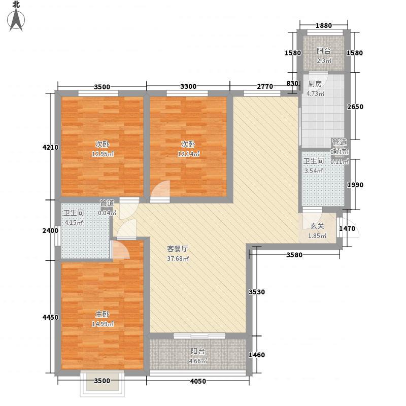 新丰世纪户型图2-A户型 3室2厅2卫1厨