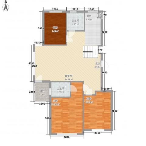 水岸花都3室1厅2卫0厨169.00㎡户型图