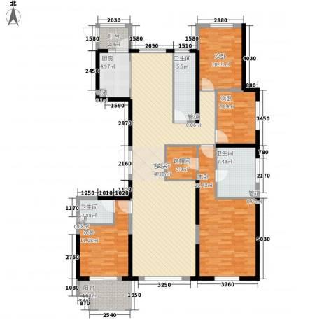 佳源广场4室1厅3卫1厨184.00㎡户型图