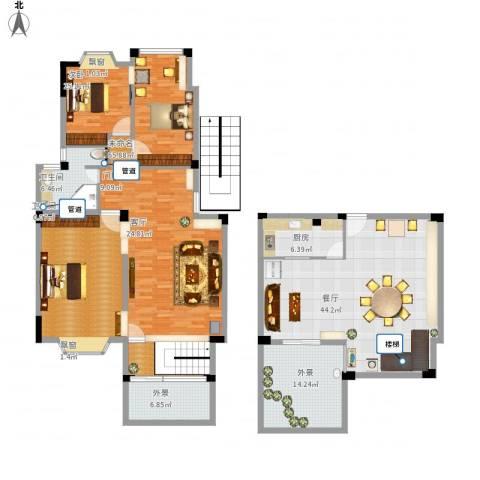 志城江山郡1室1厅2卫1厨186.05㎡户型图