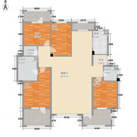 八王寺圣水源4室1厅3卫1厨197.00㎡户型图
