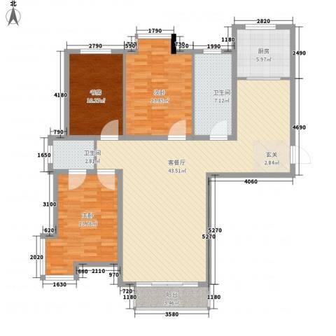 SR国际新城3室1厅2卫1厨139.00㎡户型图