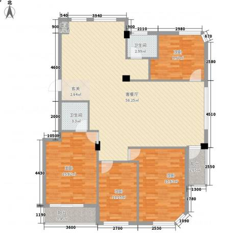 蓓佛莉庄园4室1厅2卫0厨165.00㎡户型图