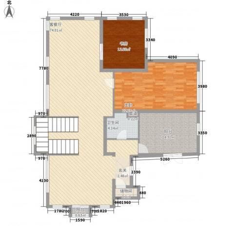 宝岛花园(二期)2室1厅1卫0厨180.00㎡户型图