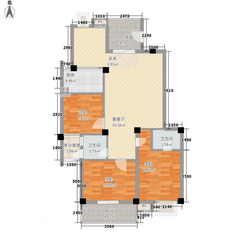 新南公寓119.00㎡新南公寓3室户型3室