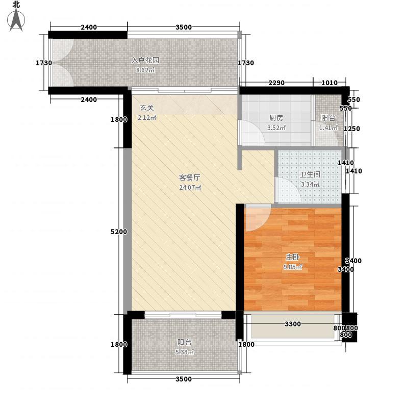 鸿洲时代海岸西区鸿洲时代海岸西区户型图海琴阁1室2厅1卫1厨户型1室2厅1卫1厨