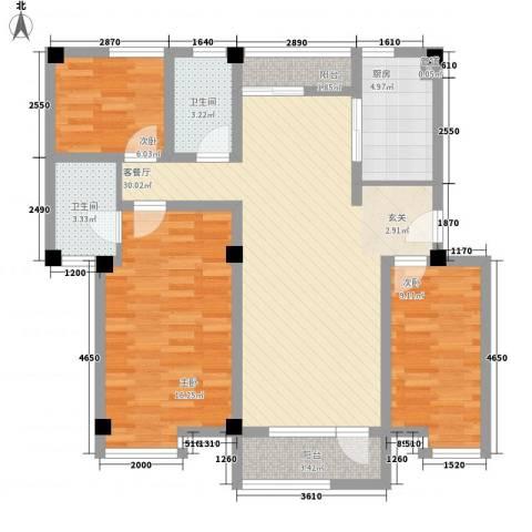 月亮湾亲水嘉园3室1厅2卫1厨115.00㎡户型图