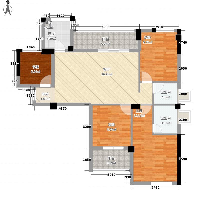 阳光新界120.00㎡阳光新界4室户型4室