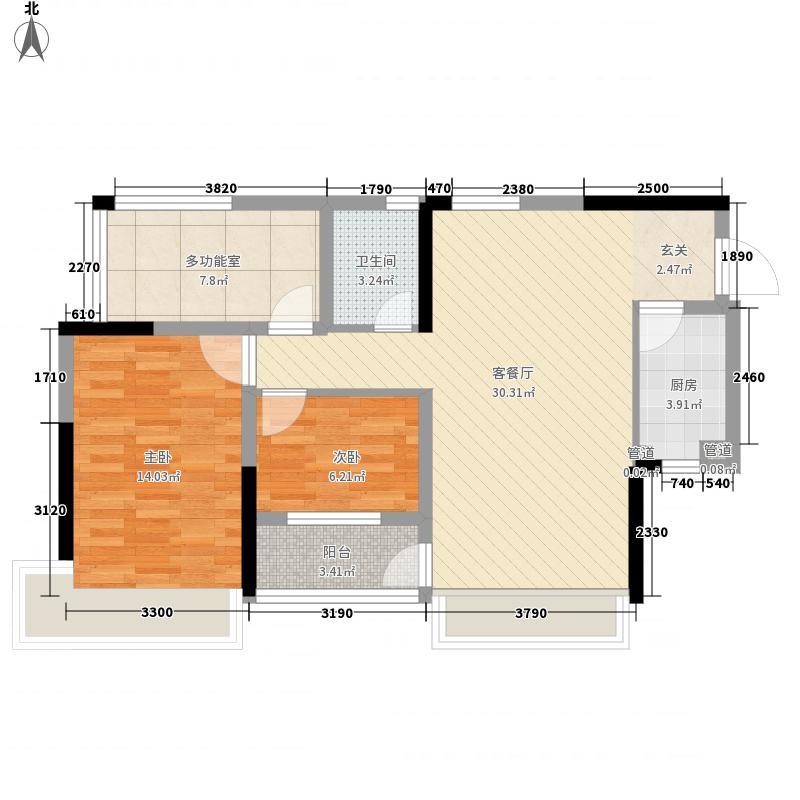 万科金色溪谷花园87.00㎡万科金色溪谷花园户型图三房两厅一卫单位3室2厅1卫1厨户型3室2厅1卫1厨