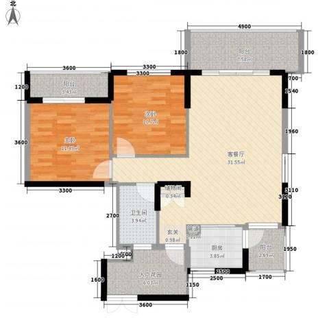 神舟科技大厦2室1厅1卫1厨116.00㎡户型图