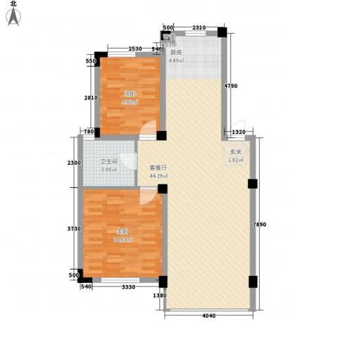 新港名兴花园2室1厅1卫0厨103.00㎡户型图