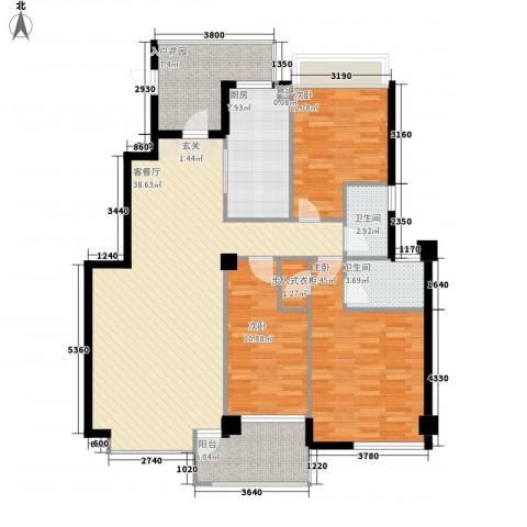 大溪地3室1厅2卫1厨146.00㎡户型图