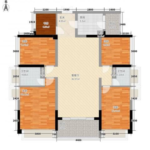 合正上东国际三期5室1厅2卫1厨144.00㎡户型图