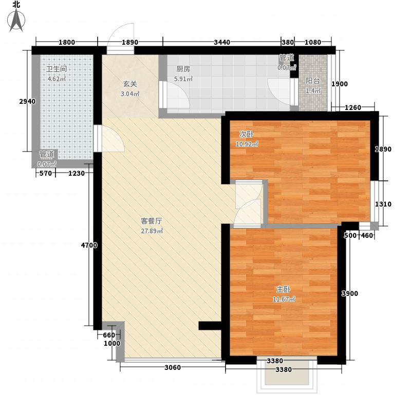 碧鸿海悦园碧鸿海悦园2室户型2室