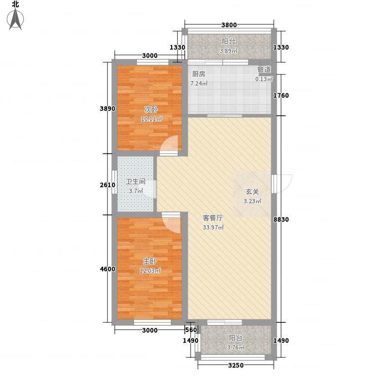 广利花园101.00㎡广利花园2室户型2室