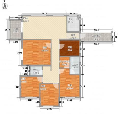 云峰苑5室1厅2卫1厨119.20㎡户型图