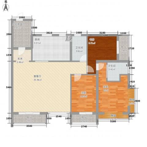 �海3室1厅2卫1厨140.00㎡户型图