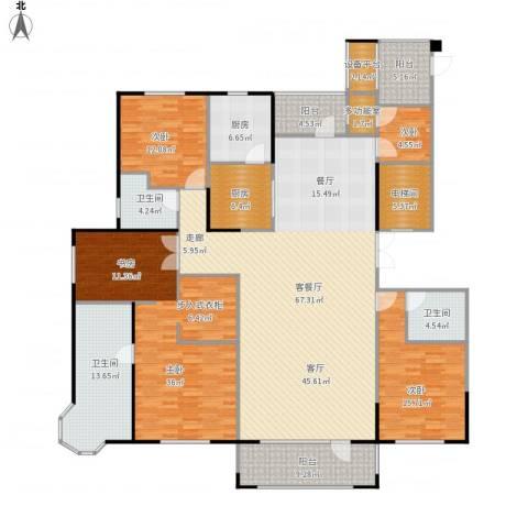 半岛公馆4室1厅3卫2厨267.00㎡户型图